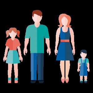 Familia de padres separados