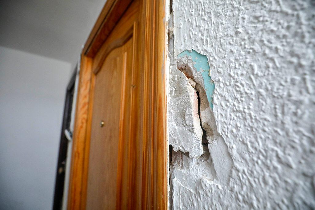 Daños en la pared